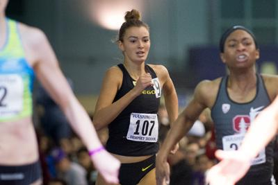 Oregon women finish fifth with third straight 800m title, men tie for 13th at indoor NCAA finals