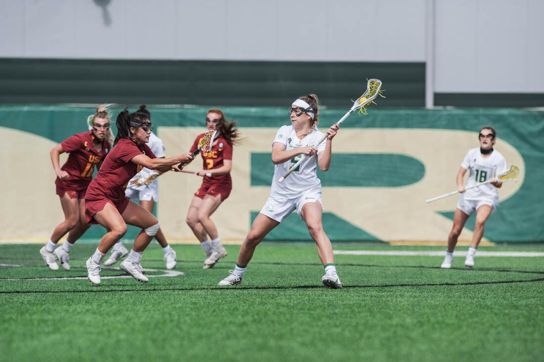 Oregon women's lacrosse comes up short against USC, 14-8