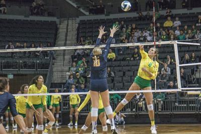 Lindsey Vander Weide has quickly turned into a leader for Oregon volleyball