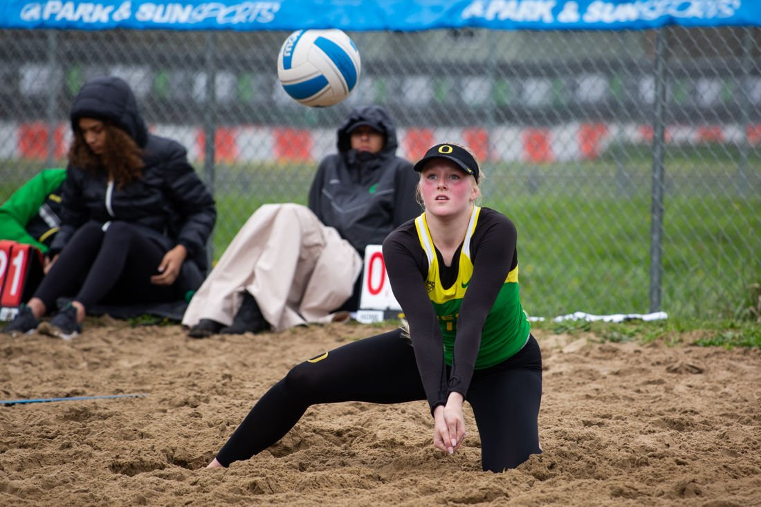 A tough draw sends Oregon women's beach volleyball out of Pac-12 Championships
