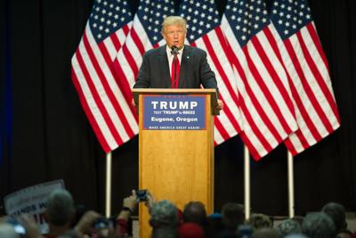 Donald Trump rally draws supporters and protesters from all over Oregon