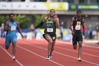 Kyree King leads Oregon to 11th straight mens Pac-12 title with sweep of sprint events