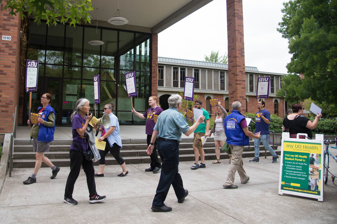 Union protests discrimination of University Health Center employees