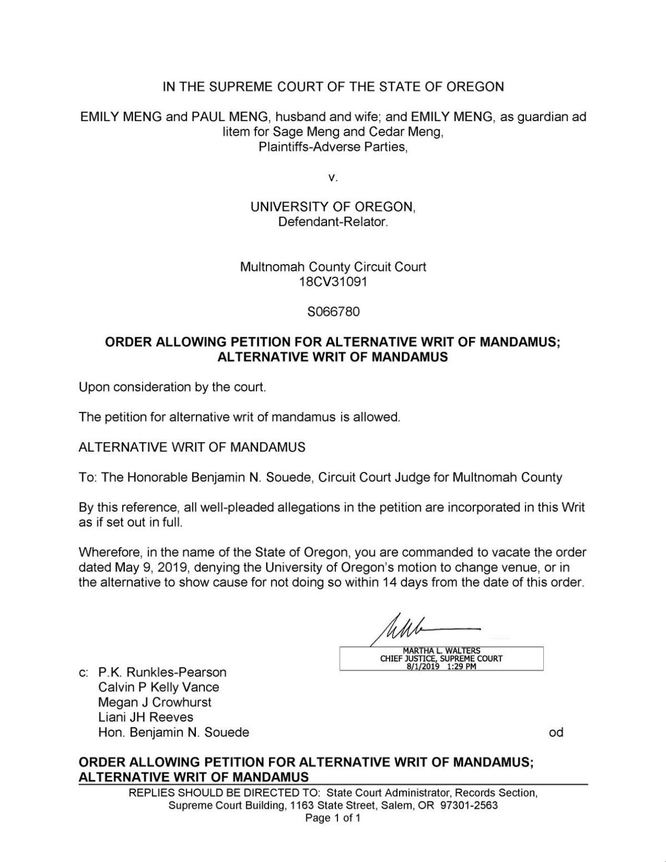 MengVUO_AllowMandamus pdf | | dailyemerald com