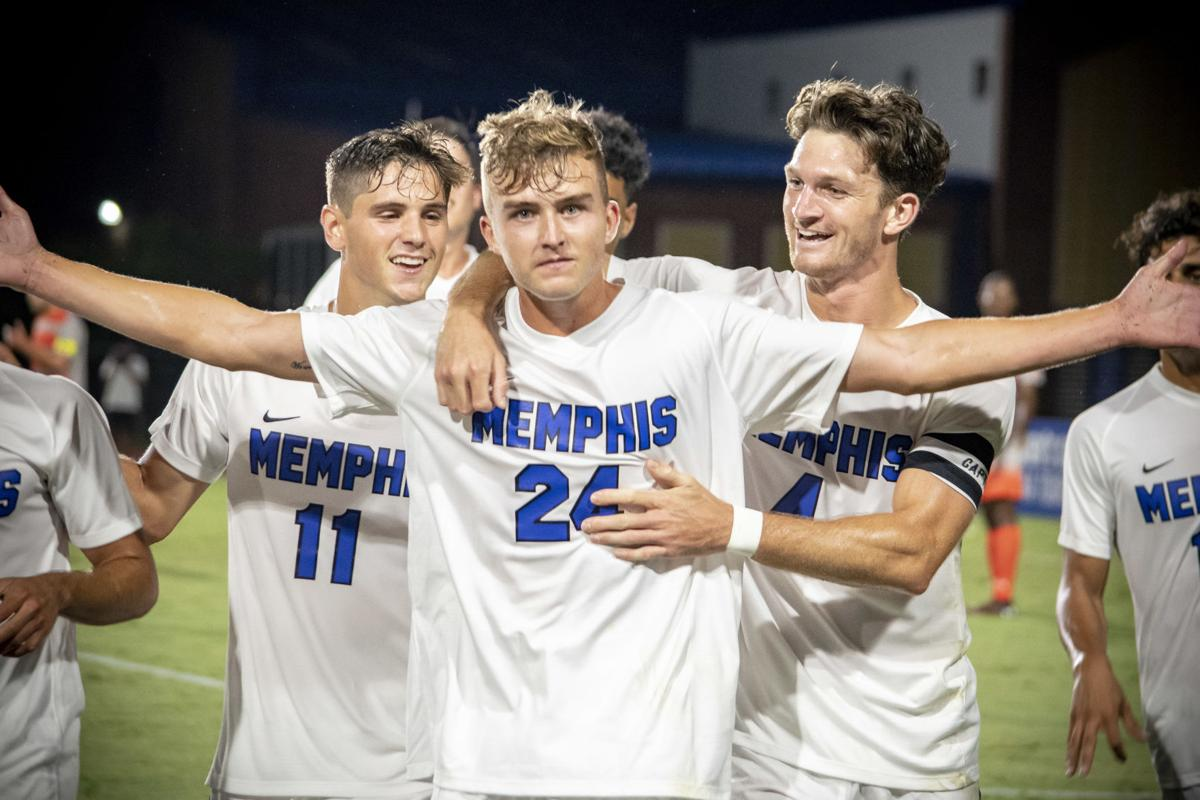Memphis Men's Soccer Celebration