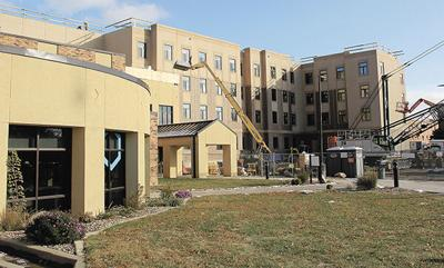 Construction on university residence hall on schedule