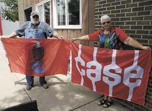 Madison couple organizes J.I. Case flag display