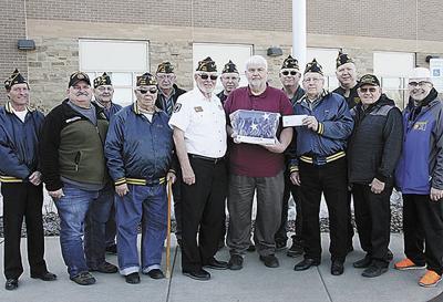 American Legion, VFW present flag contributions to Madison hospital