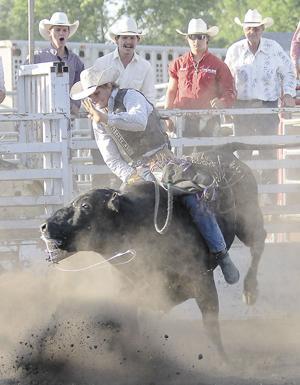 Petrik wins bull riding event at Prairie Village