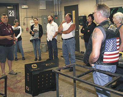 Neb. bikers tour MHS; interested in technical education