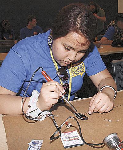 Upward Bound students sample the DSU experience