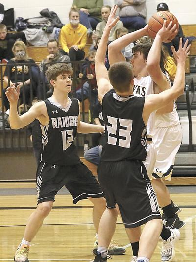 Raiders hold on for 49-40 win over Hawks