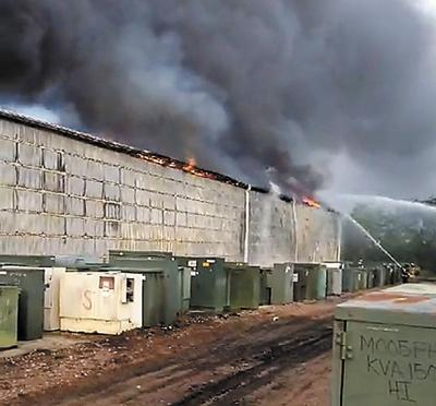 T&R Electric buildings destroyed by fires