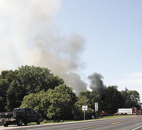 Fire destroys house east of Howard