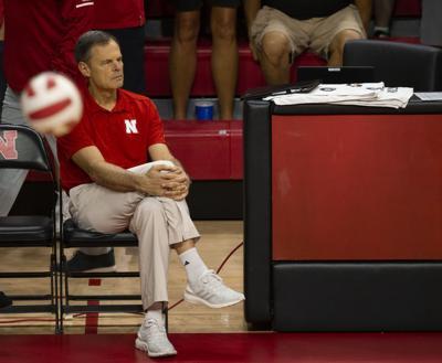 Head volleyball coach John Cook