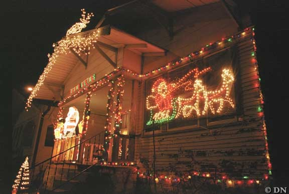 christmas lights festive for some nuisance for others