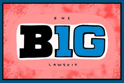 Big Ten lawsuit art