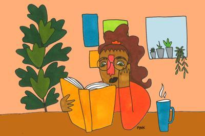 Reading a Book Art