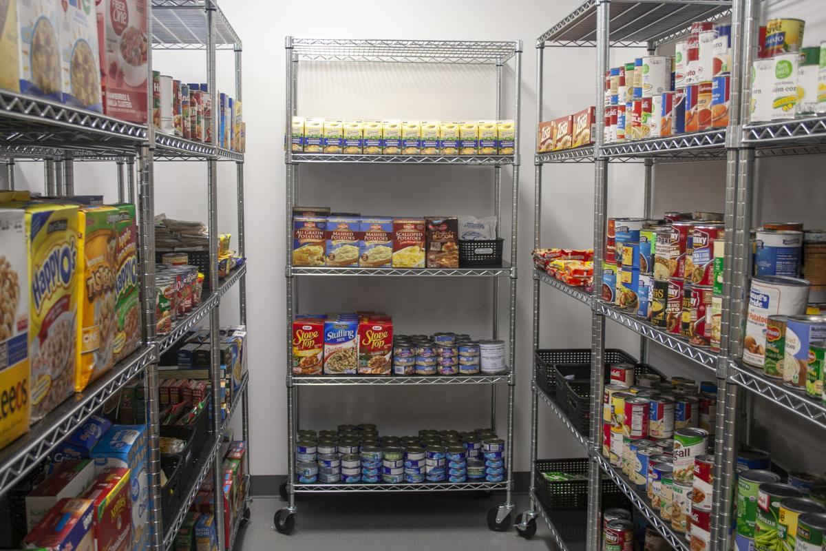 Food Shelving at Husker Pantry's New Location