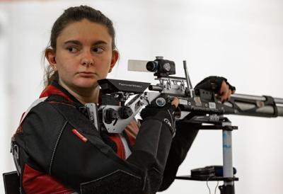 Elena Flake Husker Rifle team