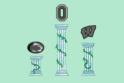Week 6 Big Ten Power Rankings Art