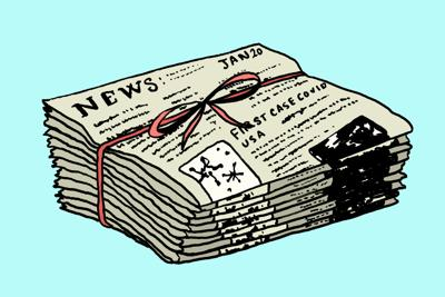 COVID-19 news art