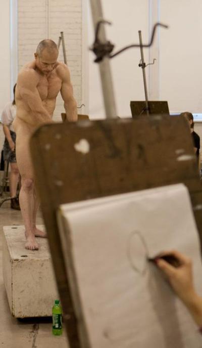 Nude models, despite initial awkwardness, essential to artist development