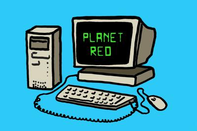 Curious Cornhuskers: Exploring the Planet Red website art