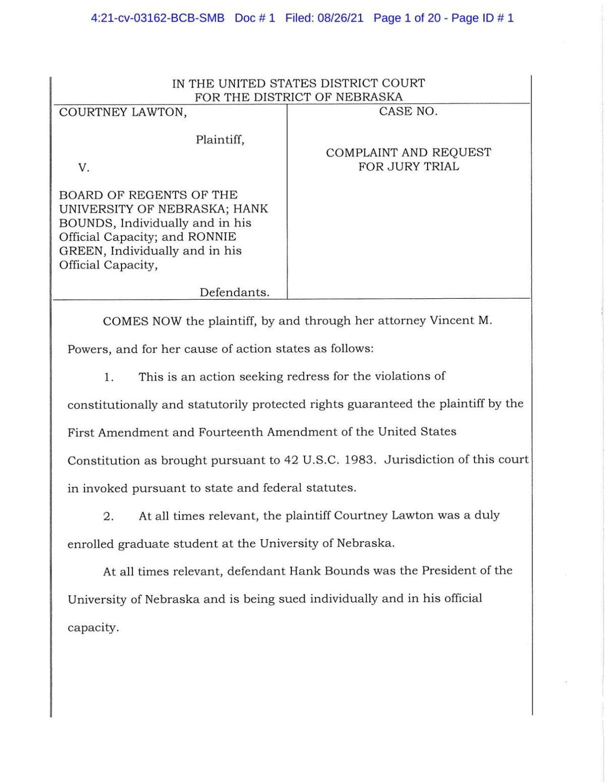 Lawton v. Board of Regents