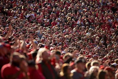 Fans in Memorial Stadium - Oct. 26, 2019