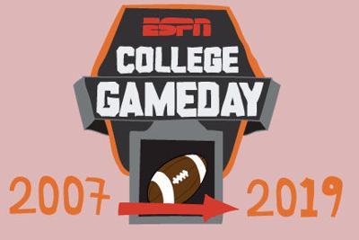 ESPN College GameDay Husker Comparison 2007 to 2019