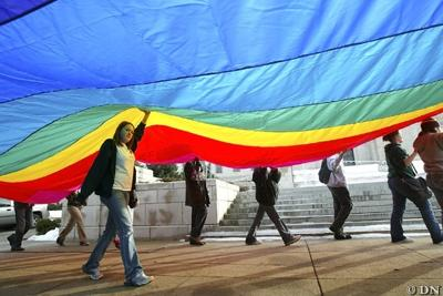 Students march to Capitol in support of gay rights