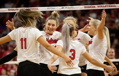 Nebraska Volleyball Team Celebration