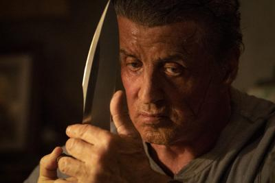 """Sylvester Stallone in a still from new movie, """"Last Blood"""""""