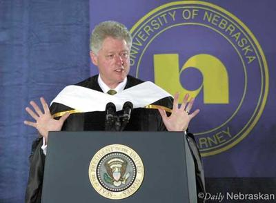 Clinton calls for 'heartland's citizens' to pay attention to foreign policy during visit to UNK