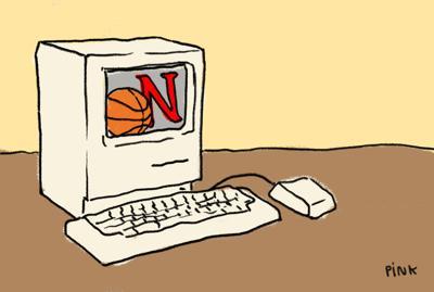 Curious Cornhuskers Internet Basketball Art