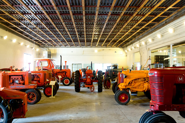 This is inside the Larsen Tractor Museum