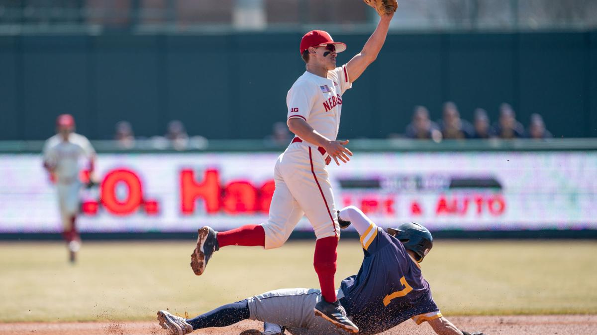 Huskers break out bats for blowout win to complete sweep
