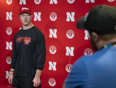Scott Frost speaks to media
