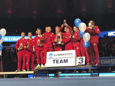 Husker men's gymnastics team finished third in the NCAA Championships