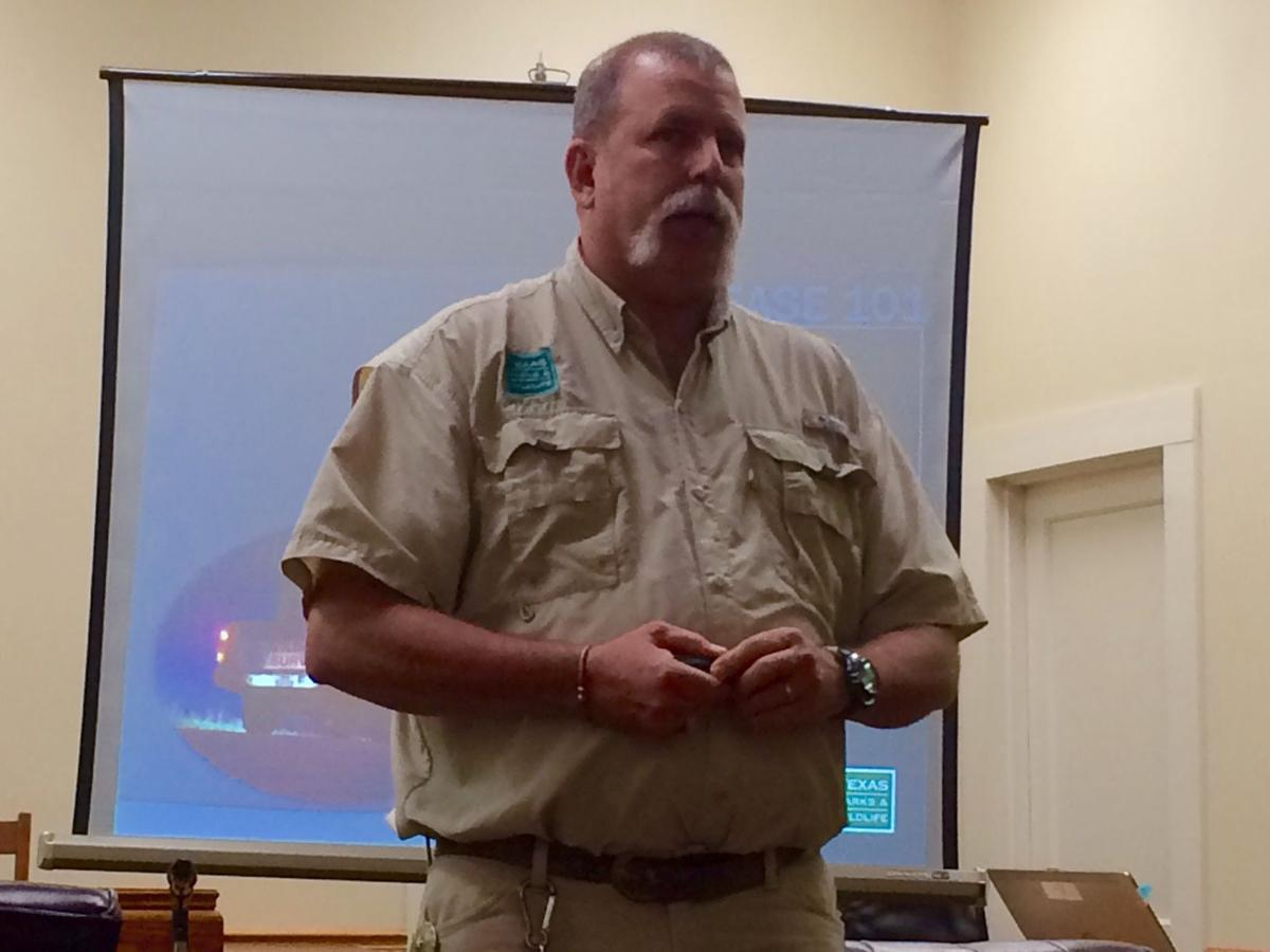Texas Parks and Wildlife Biologist Gary Calkins