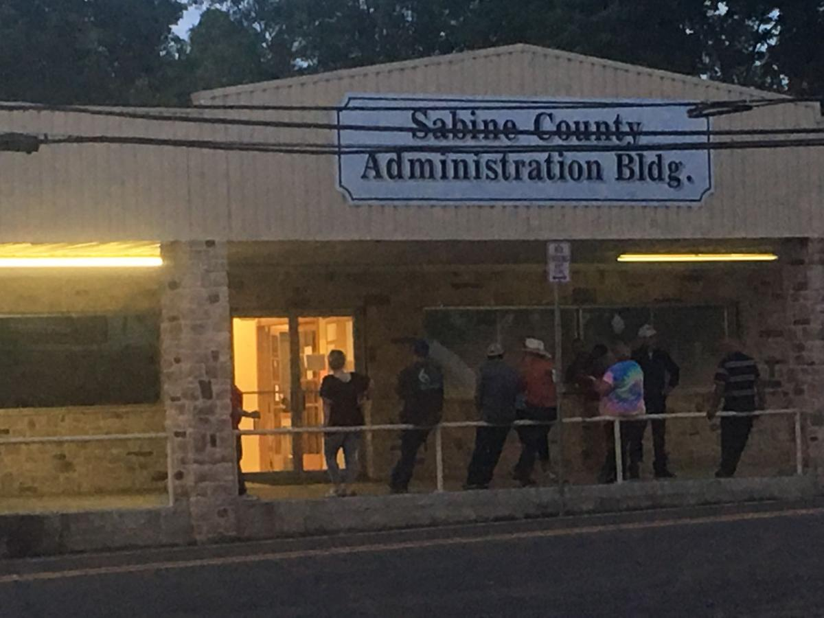 Waiting Election results in Sabine County, May 2018