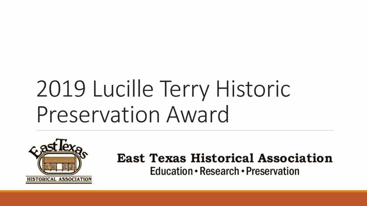 2019 Lucille Terry Historic Preservation Award