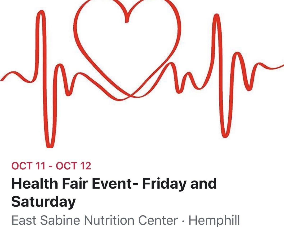 Annual Health Fair coming to Hemphill Oct. 11-12