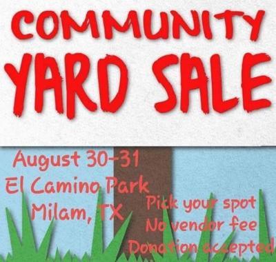 Labor Day Weekend, community yard sale