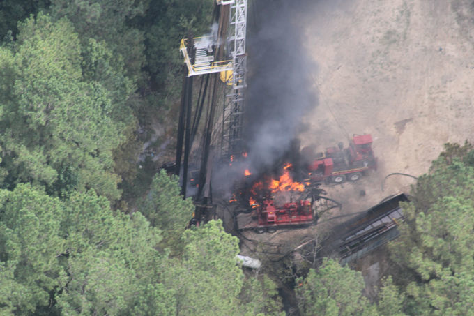 Three people injured in oil well explosion south of Jasper