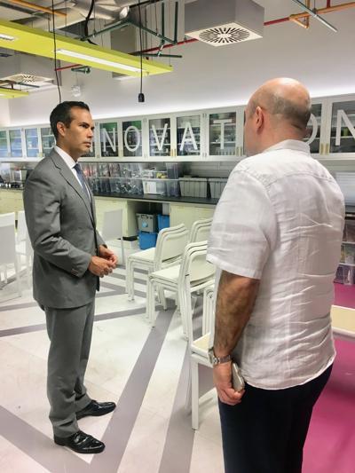 Texas Land Commissioner, George Prescott Bush, visitsTexas A&M's Qatar campus
