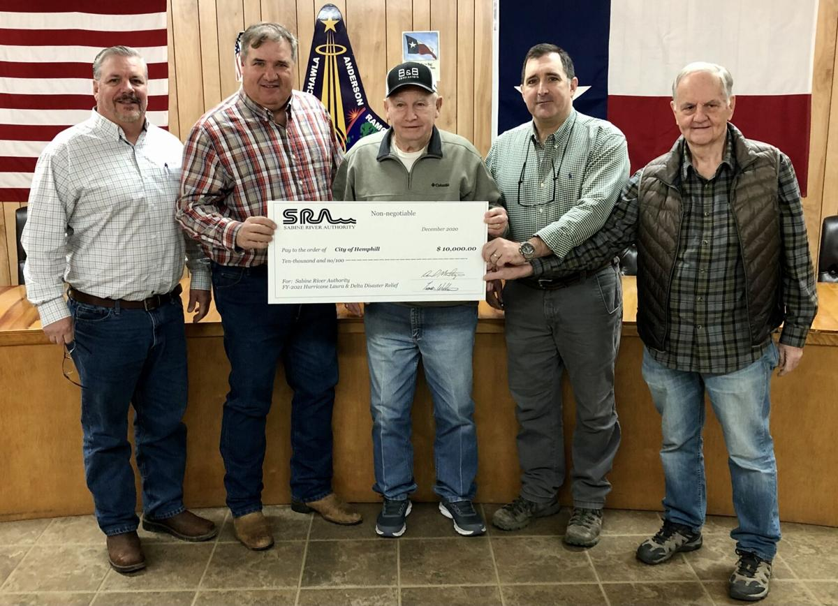 $10,000 Disaster relief check presented to the City of Hemphill