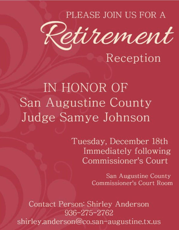 Judge Samye Johnson Retirement Reception