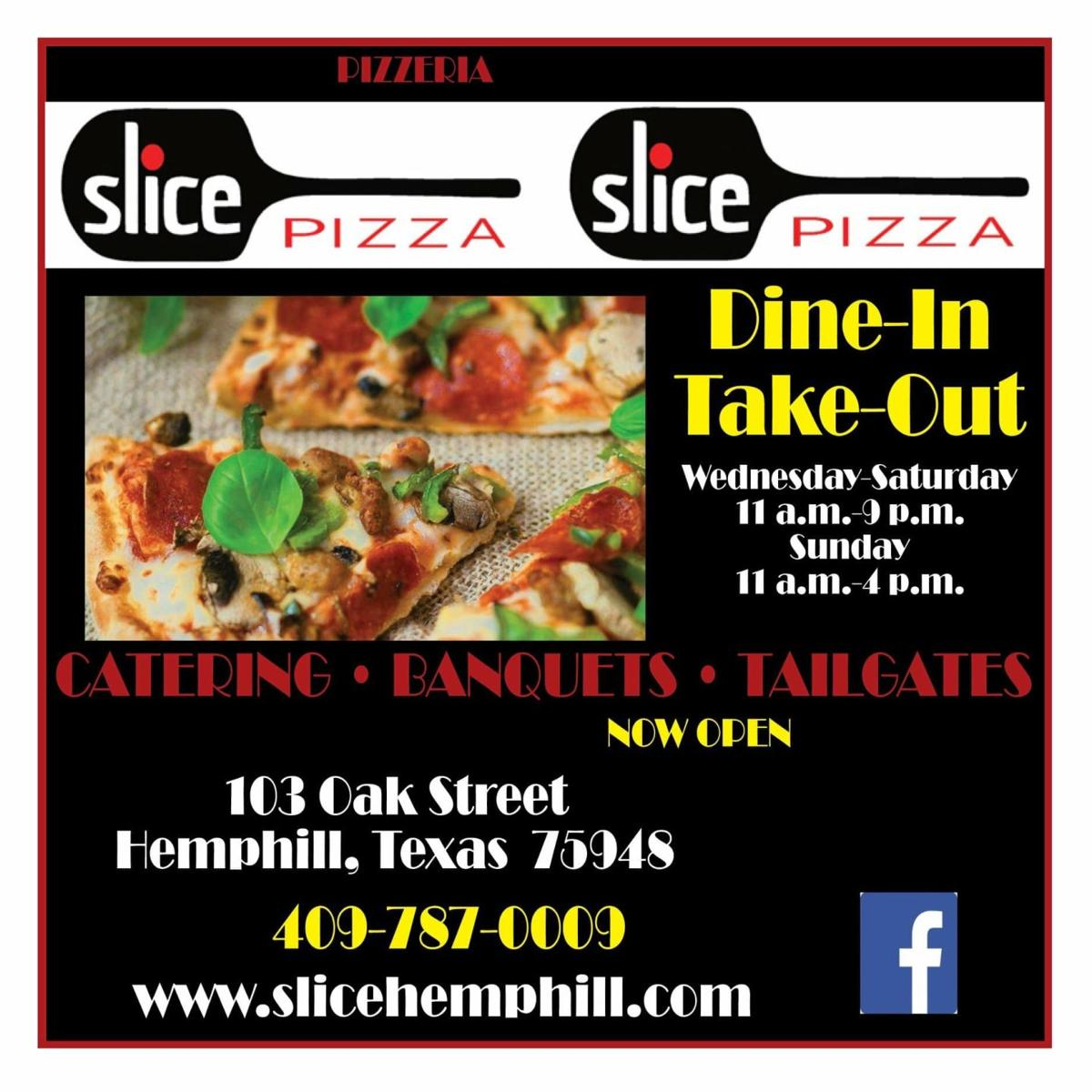 SLICE Pizza, Hemphill TX